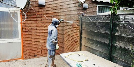 gevelreiniging woningbouwvereniging Breda